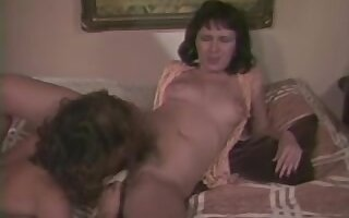 Horny lesbian couple cunt licking in vintage sex scene