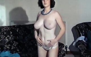 She star - vintage jiggling college girl big boobs dance strip